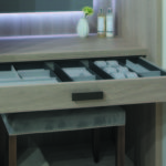 Varenna Grey Oak & Eco Leather Drawer Inserts by Daval