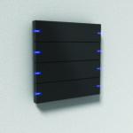 04_Gira pushbutton sensor 4, Aluminium Black LED Blue - HR