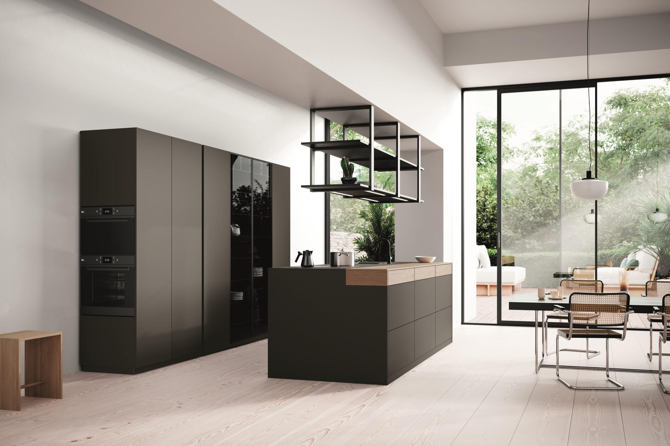 _Rotpunkt 2021 – New Clay Dark kitchen & Ceiling Frames