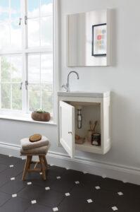 _Radcliffe Thurlestone 1-door vanity, Rosedale White