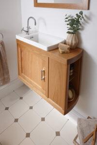 _Radcliffe Thurlestone offset vanity, Natural Oak